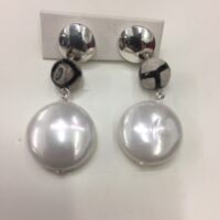 pearl white earrings