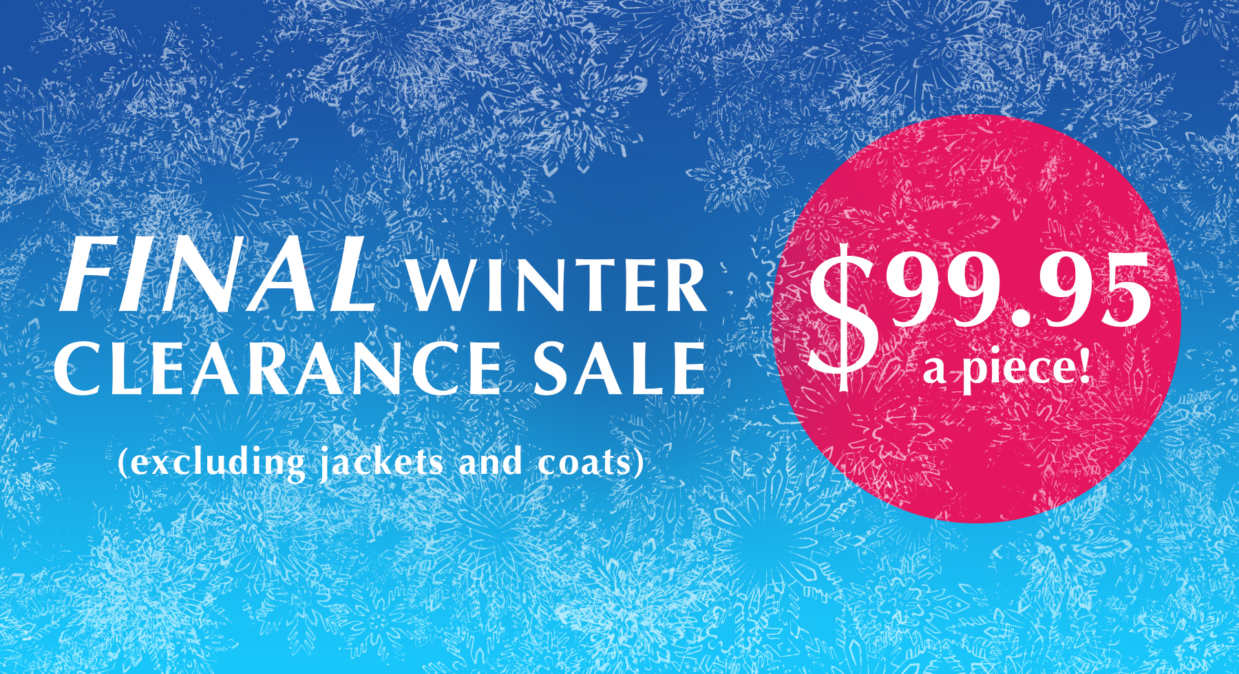 winter clothing sale auckland